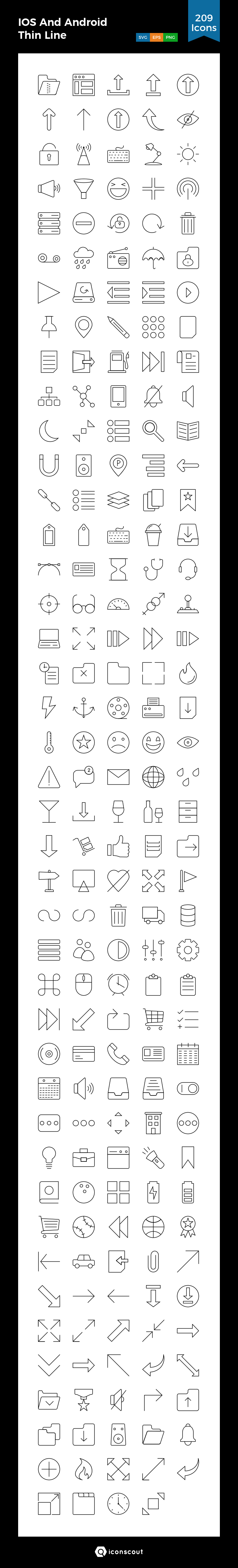 Download Ios And Android Thin Line Icon Pack Available In Svg Png Eps Ai Icon Fonts Icon Pack Line Icon Icon