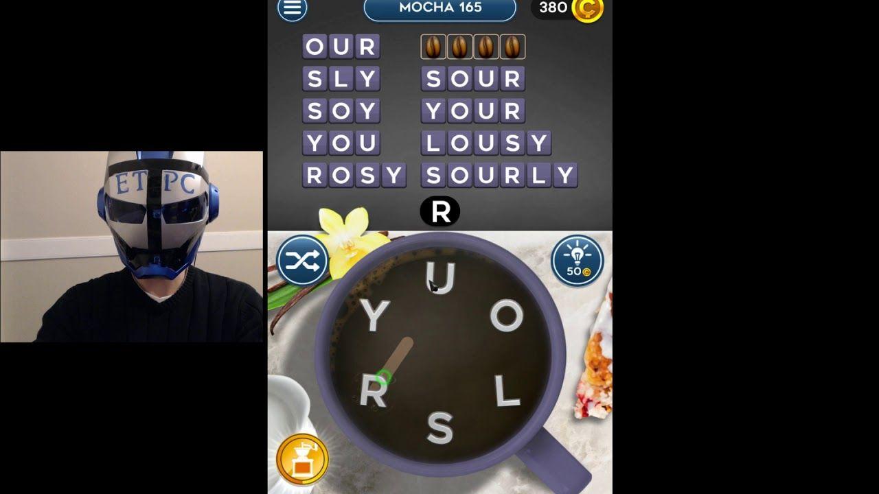 Word Mocha Mocha Level 165 Answers Words Word Puzzles Mocha