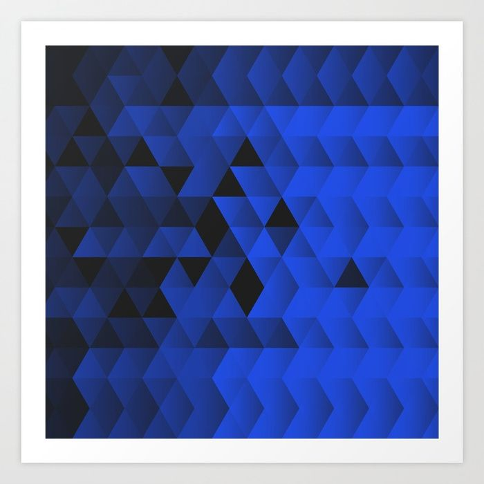 Buy Triangles Wave Art Print By Sitchko Worldwide Shipping Available At Society6