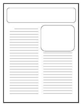 photo regarding Printable Newspaper Template called Cl Newspaper Template TpT Language Arts Courses