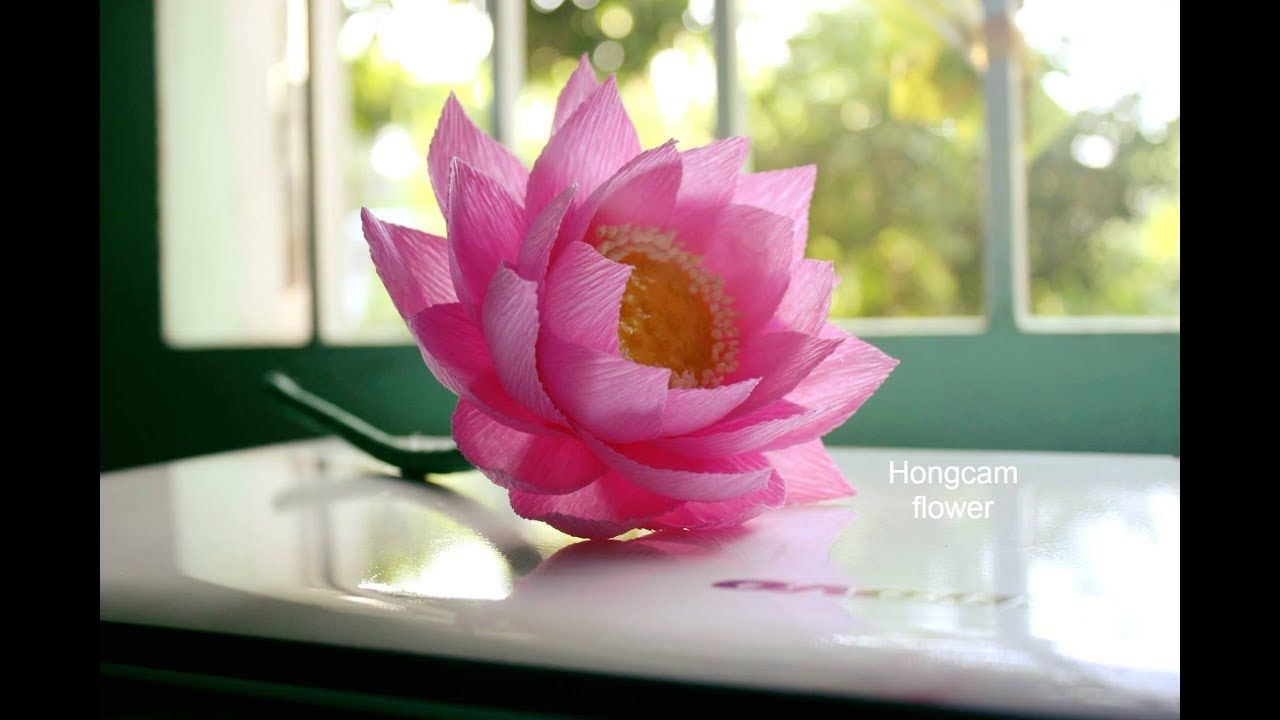 2354 how to make lotus flower from crepe paper flowers silk 2354 how to make lotus flower from crepe paper mightylinksfo