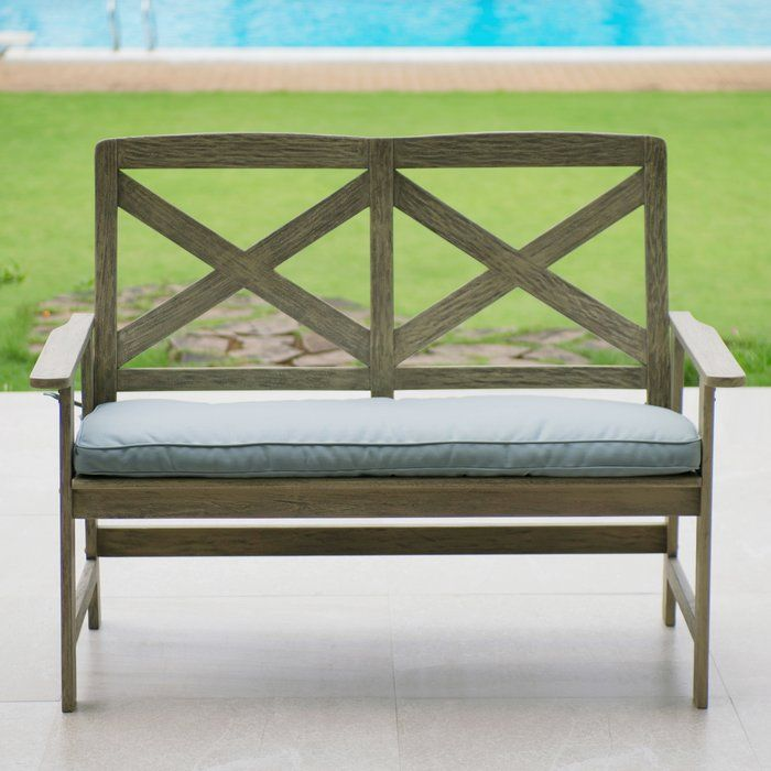 Beachcrest Home Englewood Wood Garden Bench & Reviews ...