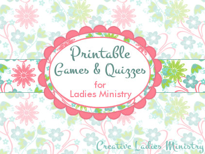 Persnickety image within printable games for women's ministry