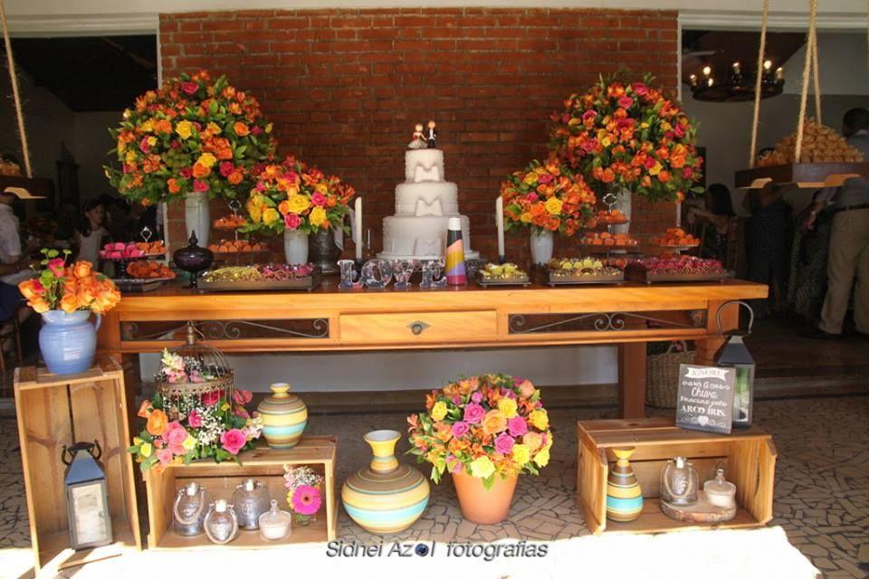 Mesa de bolo e doces by Soundlight Eventos. Isabelle Lopes e Christian Hilton