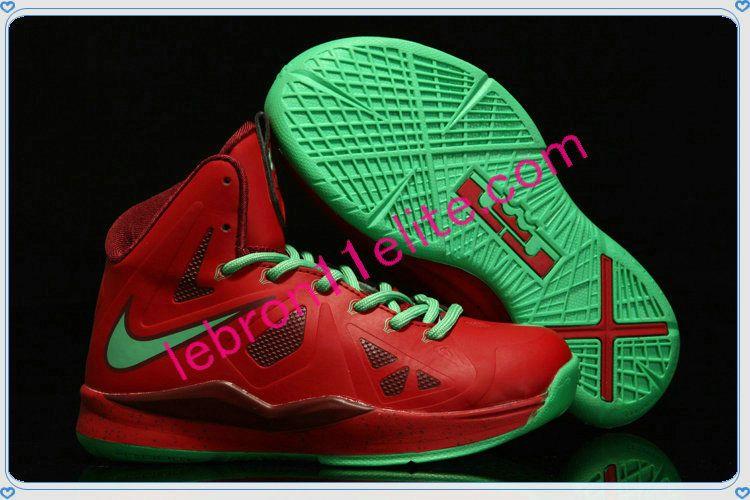 reputable site 28fd2 67034 Lebron 10 for Kids Lebron James Shoes Child Christmas Red Diamond Green  541100 600