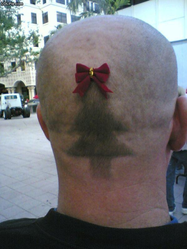 Christmas Haircut Christmas Hairstyles Christmas Humor Funny Christmas Images