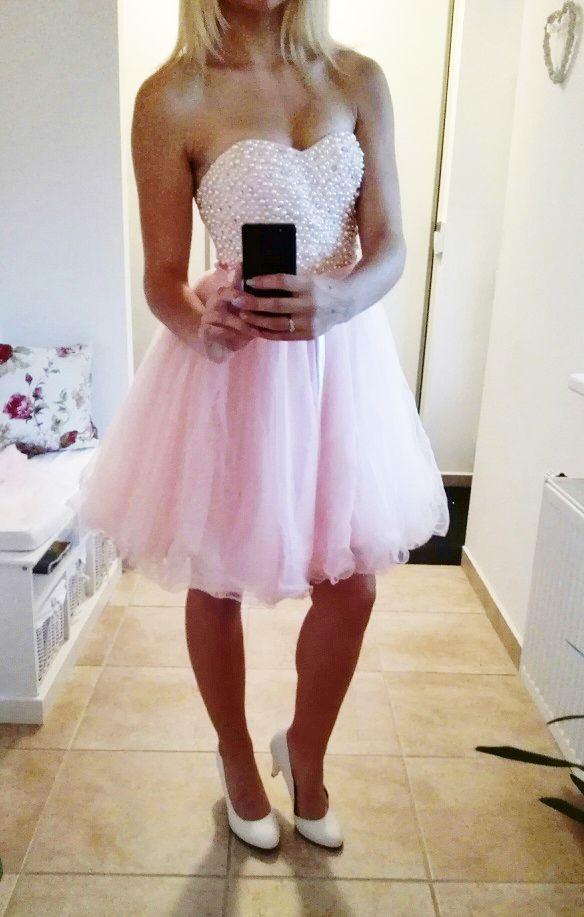 aca0595da2d Plesové šaty - koktejlky korzetové růžové