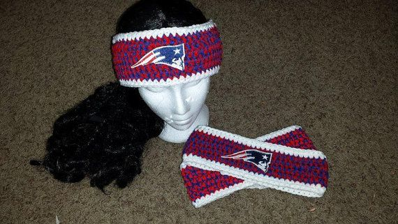 5ee3b0ad Patriots Headband/Ear warmer with patch you choose by KidsNKrochet ...