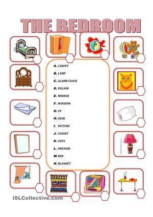 Bedroom Furniture Vocabulary furniture in the bedroom worksheet - free esl printable worksheets
