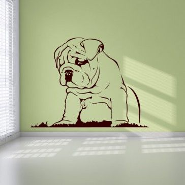 Bulldog Puppy Dogs Animals Wall Art Stickers - Bulldog - Dogs ...