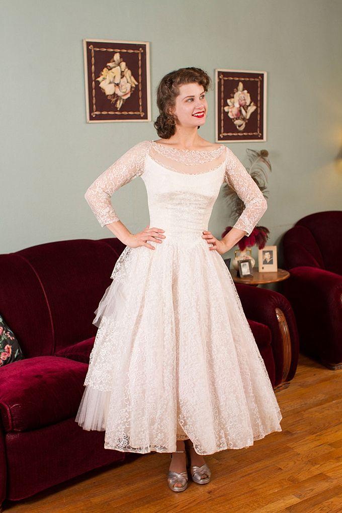 1950s Informal Wedding Dresses
