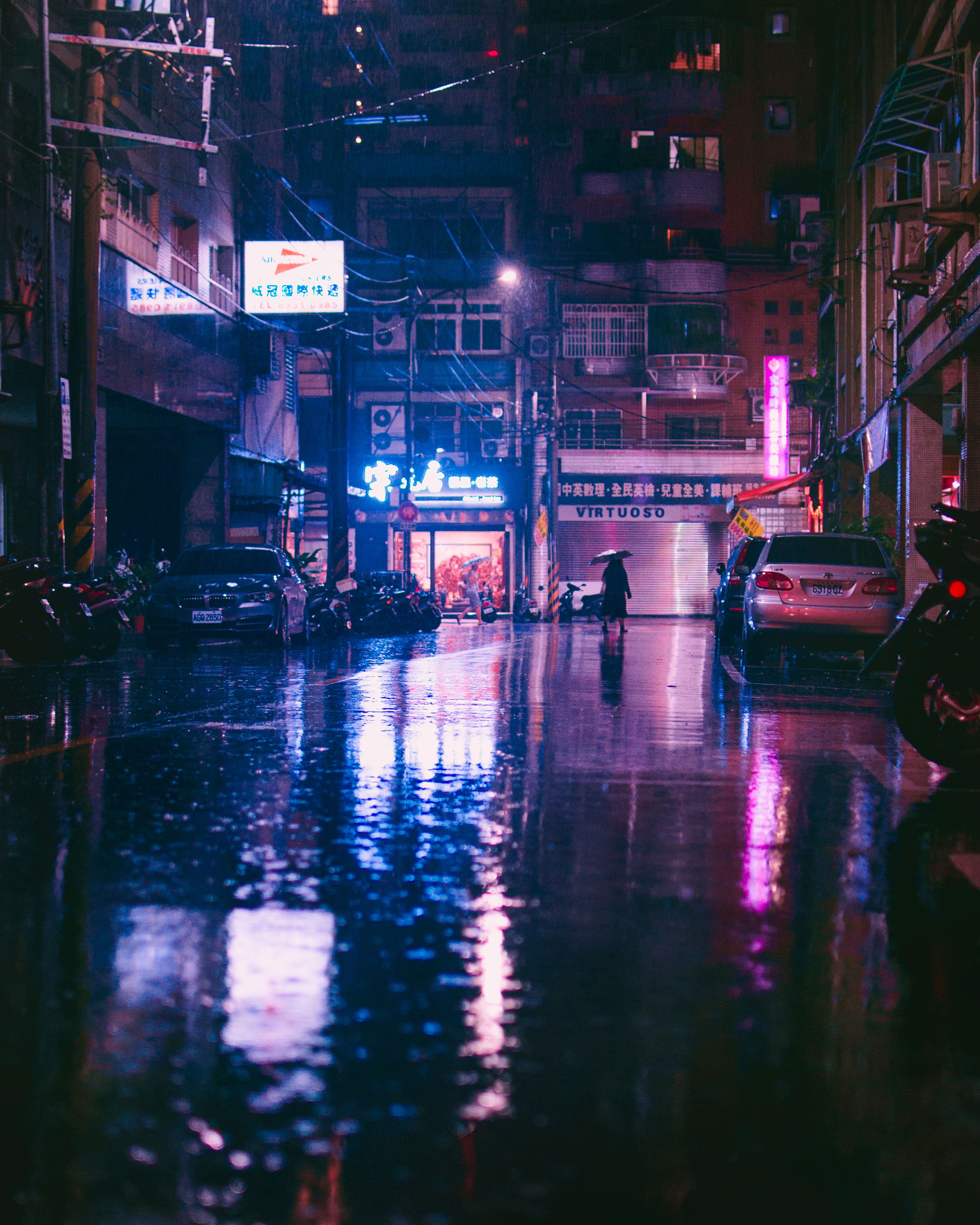 Rainy In Taipei Photo By Andrew Haimerl Andrew Haimerl On Unsplash City Aesthetic Cyberpunk Aesthetic City Rain