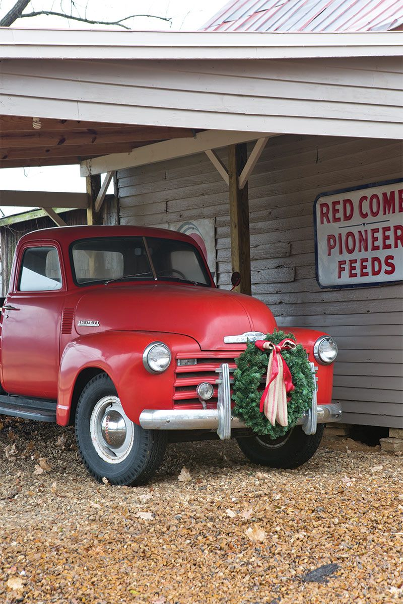 Christmastime at gentrys farm christmas red truck