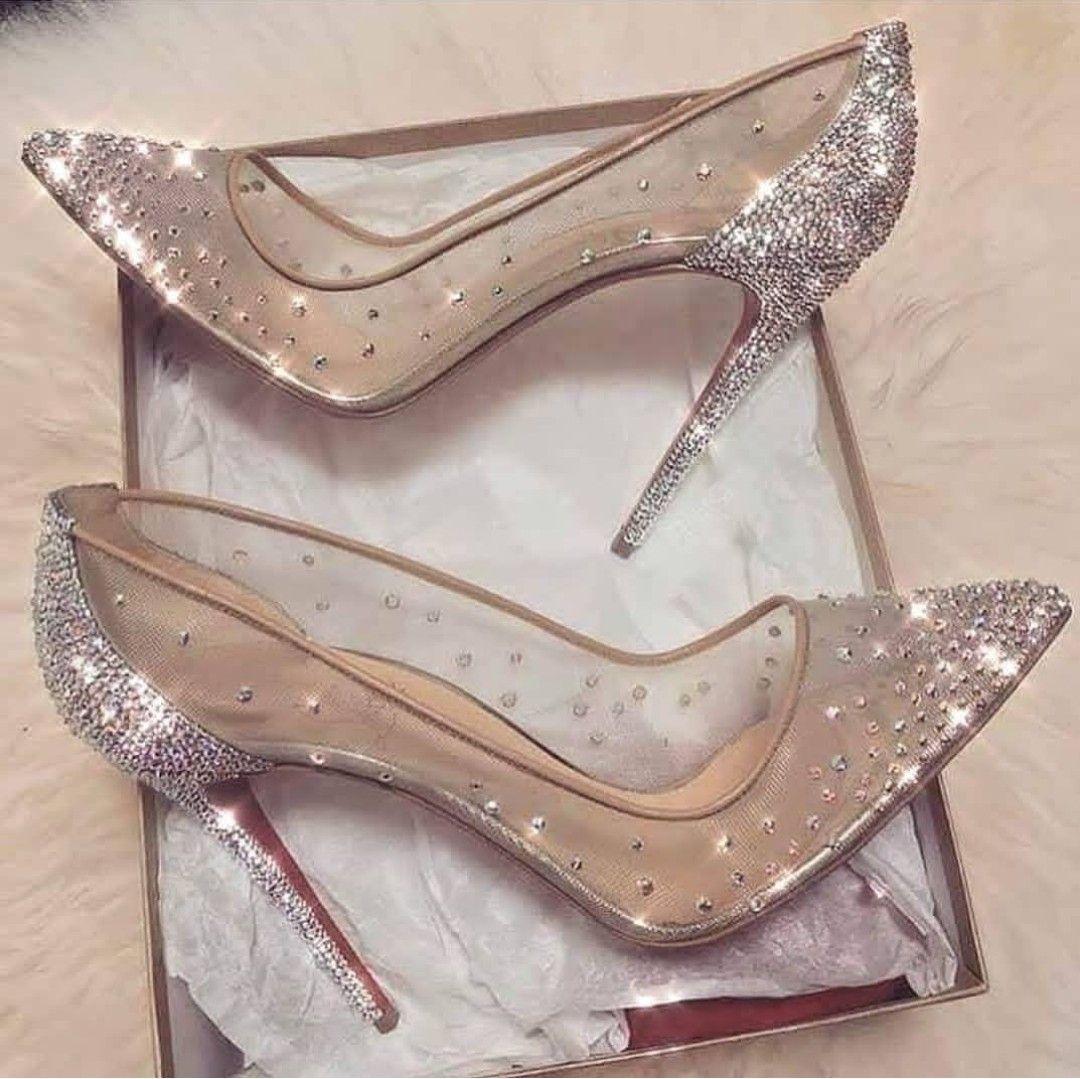 Nude sheer diamond stiletto scarpe   2018 scarpe in 2018    Pinterest   a182c6