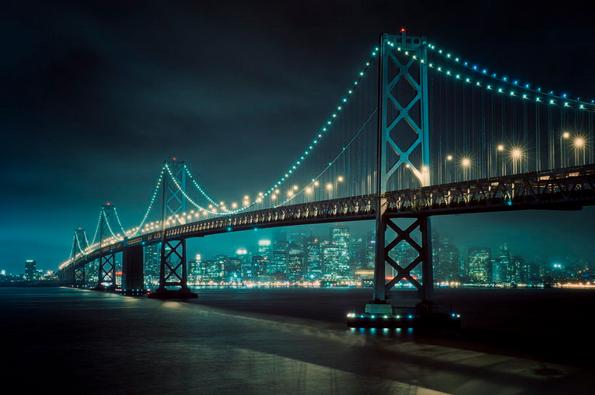 Bay Lights Allard Schager Bay Lights Bay Bridge San Francisco Bay Bridge