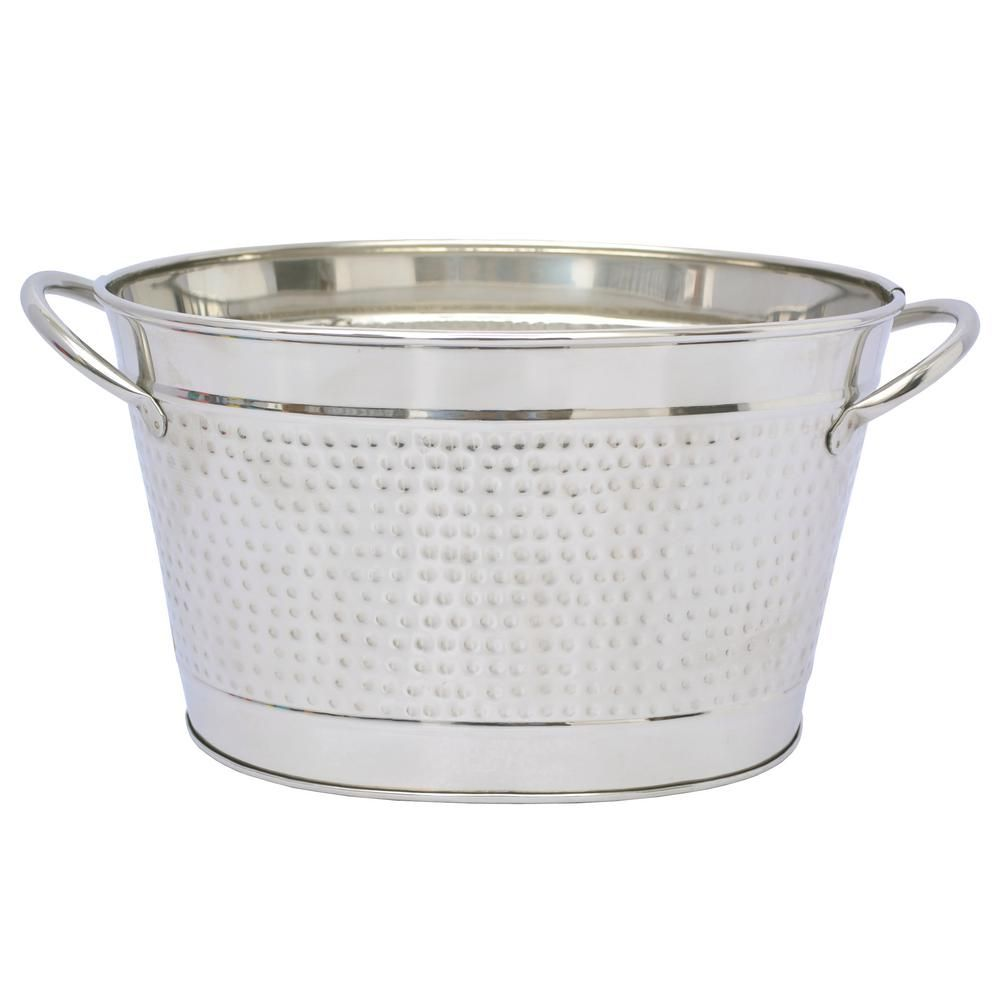 Dewan And Sons Oval Stainless Steel Small Beverage Tub With Built