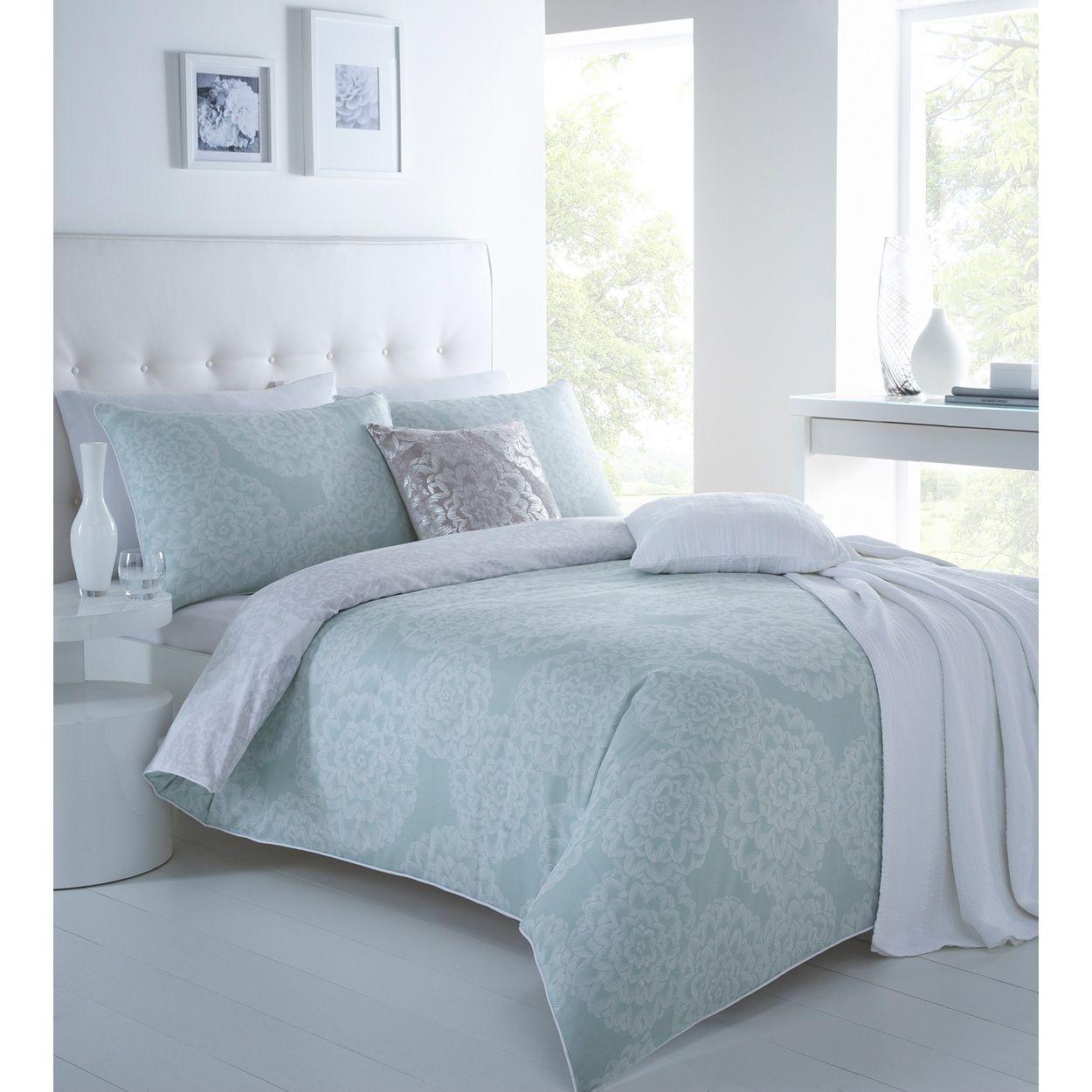 Black Designer aqua  Dahlia  bedding set  at Debenhams Mobile. Betty Jackson Black Designer aqua  Dahlia  bedding set