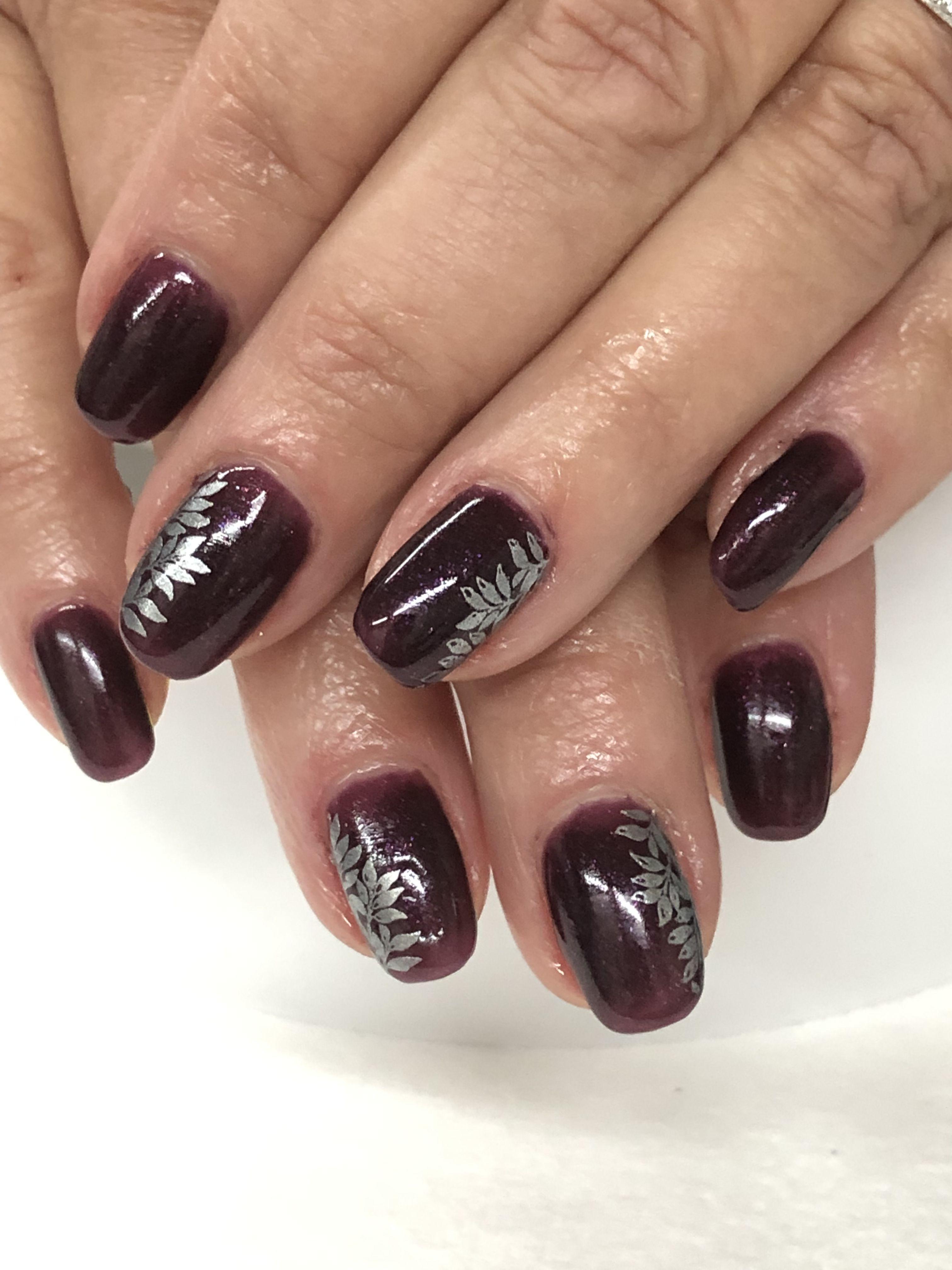 Dark Plum Purple Fall Gel Nails Gel Nail Designs Nails Fall Gel Nails