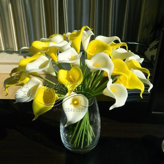 Aliexpress Com Buy 2013 Hot Sale Calla Lily And Consorted Pu Silk Decoration Artificial Flower For Home Wedding Party Free Shipping By Sg Post From Re Jarros