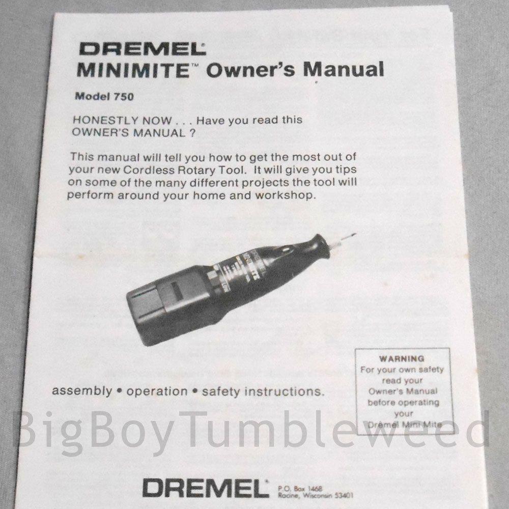 dremel owners manual minimite model 750 brochure operation guide rh pinterest com Dremel Parts Dremel 395 Type 5 Manual