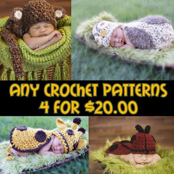 Crochet Pattern Bundle - Any 4 Patterns for 20.00 - Digital files ...