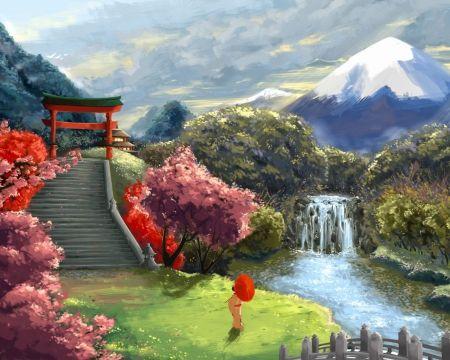 Japan Desktop Nexus Wallpapers Japanese Landscape Japan Landscape Scenery Wallpaper