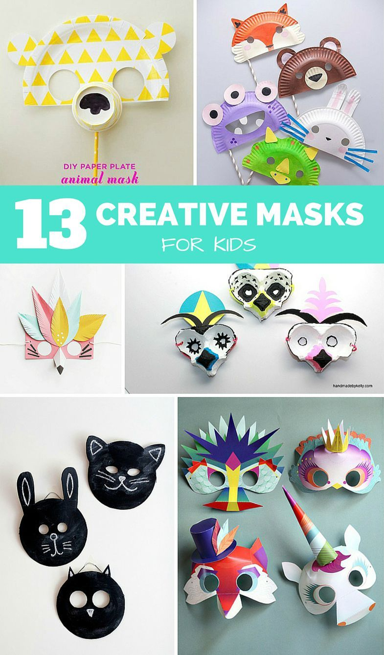 12 Fun And Creative Diy Masks For Kids Mask For Kids Fun Diy