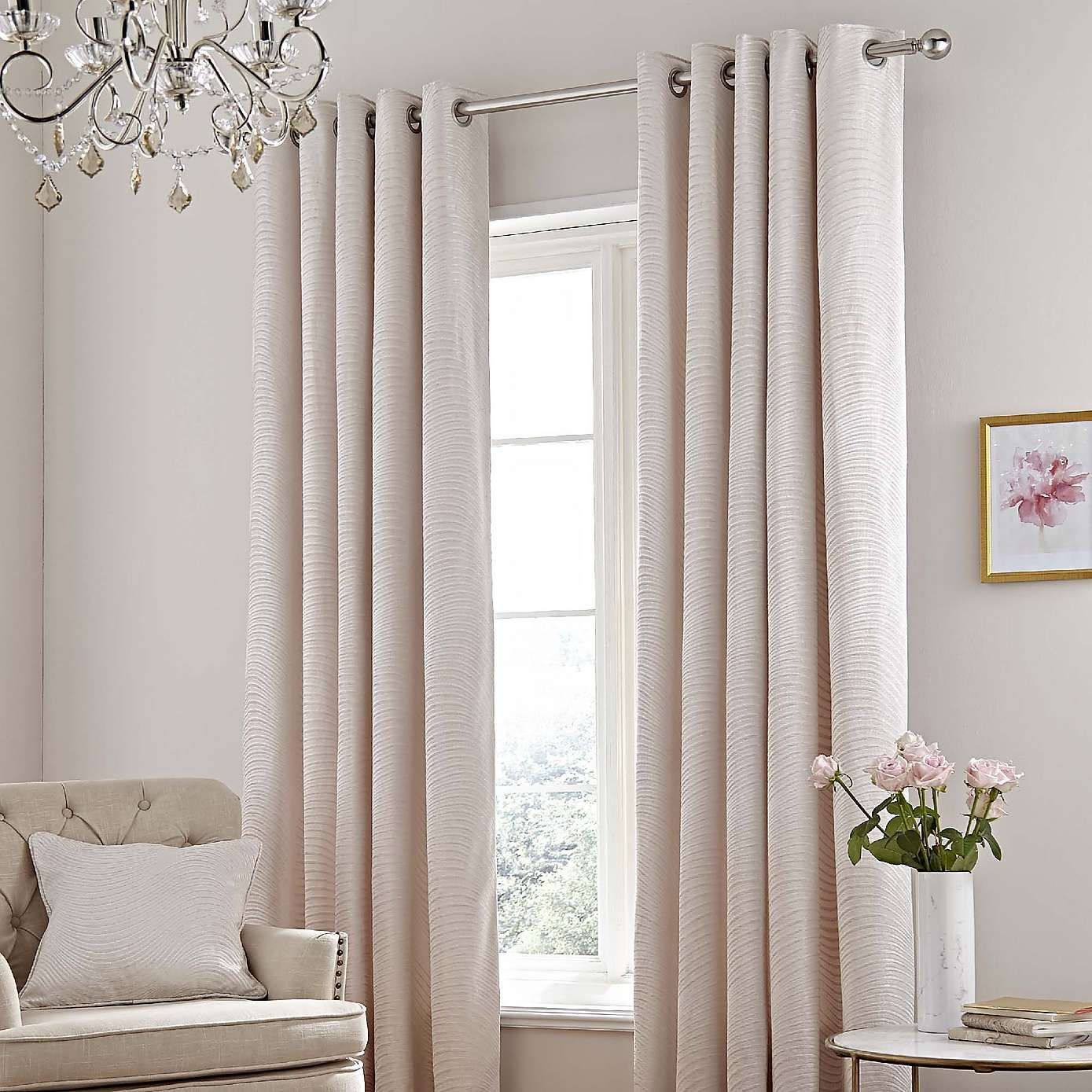 5A Fifth Avenue Fulton Ivory Eyelet Curtains