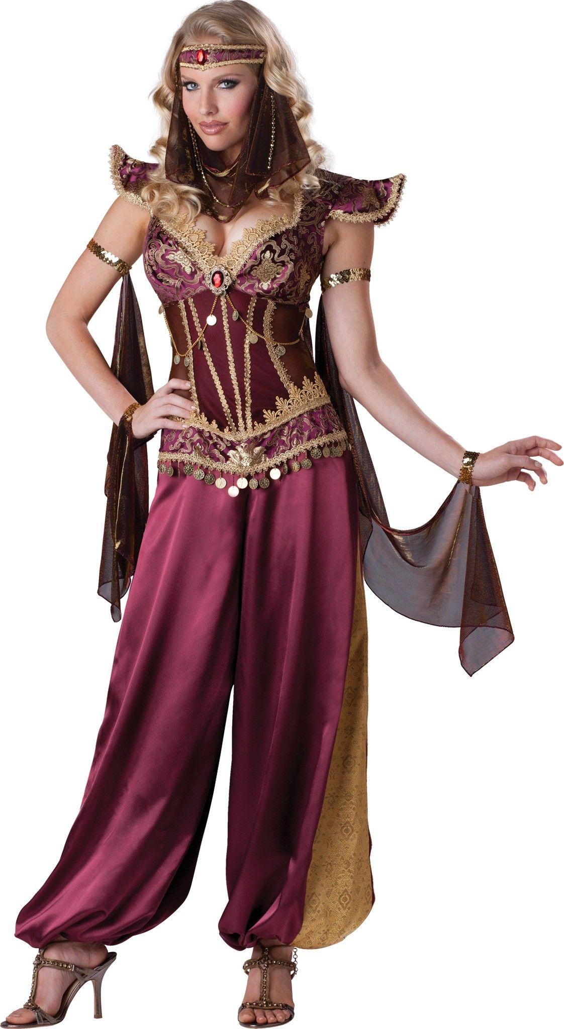 2eb4103c2e Fantasia Feminina Odalisca Luxo Festa Carnaval Halloween