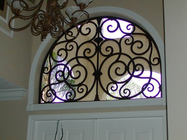Faux Wrought Iron Arched Window Insert By Tvonschimo Via Flickr