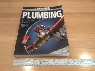 """The complete guide to plumbing, by Black & Decker 2008, 8 1/4"""" x 11 3/4"""" x 3/4"""", Softbound 334 pages, asking $10."""