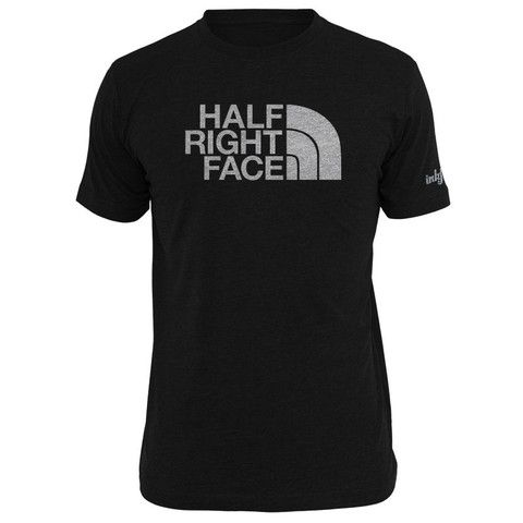 Half Right Face Parody Tee With Images Military Shirts Black