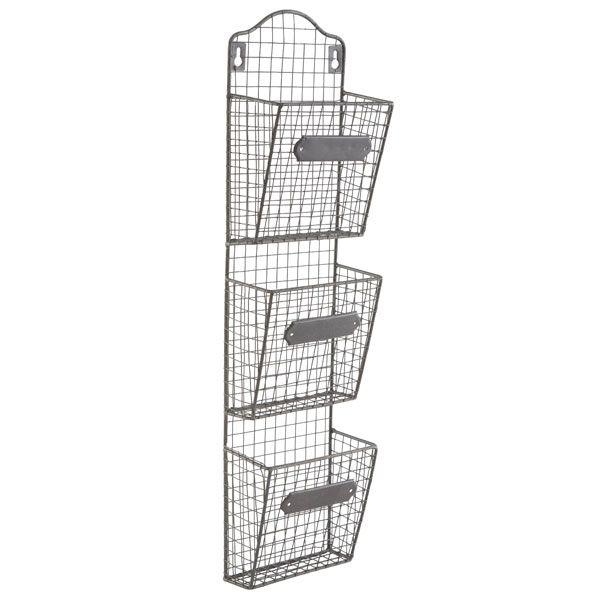 Wire basket organizer.