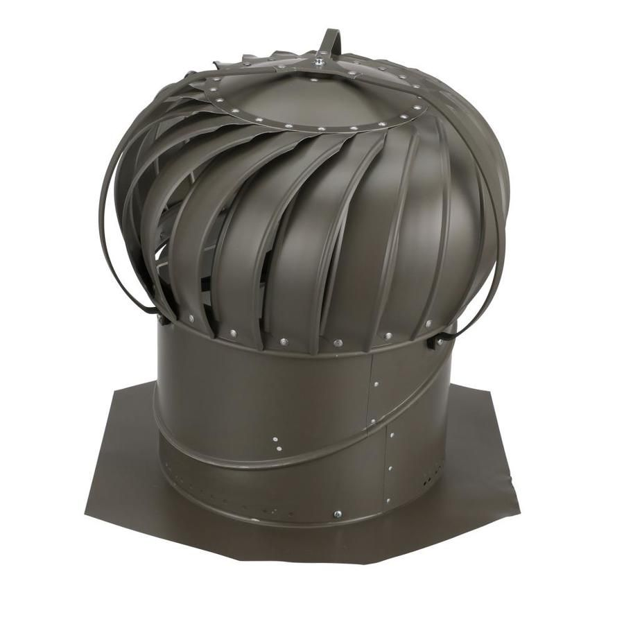 Air Vent 14 Aluminum Externally Braced Roof Turbine Vent In Brown Tob14sww In 2020 Roof Air Vent Air Vent Exhaust Vent