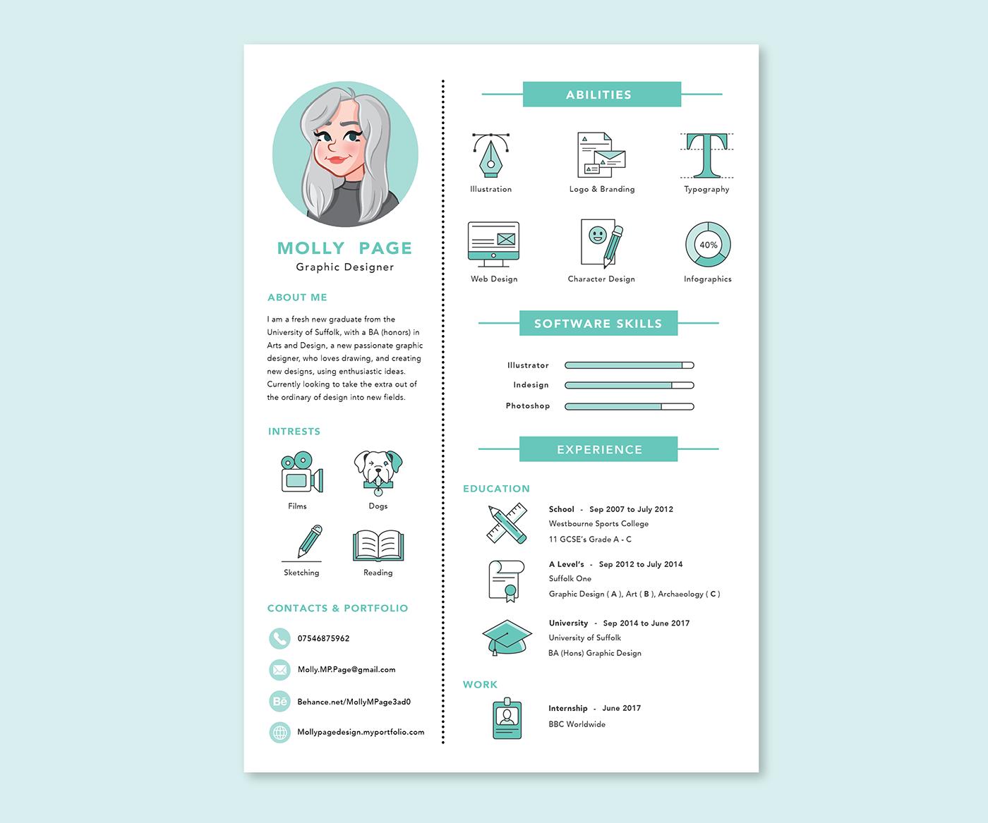 查看此 @Behance 项目: \\u201cPersonal Branding - Resume\\u201d https ...