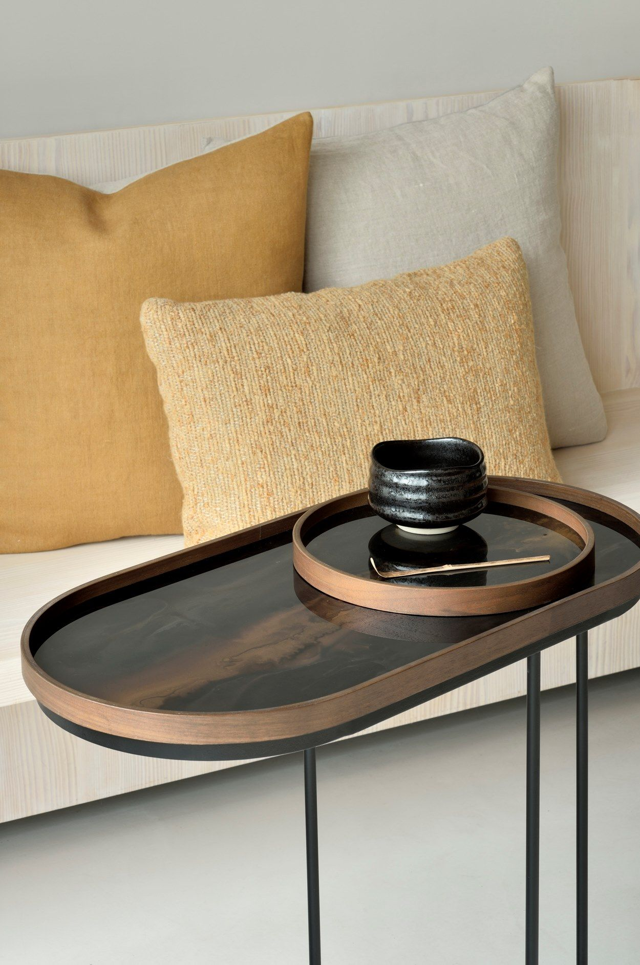 Oval Wood And Glass Tray Bronze Organic Oblong By Ethnicraft Design Dawn Sweitzer In 2021 Ethnicraft Bronze Oblong [ 1885 x 1250 Pixel ]