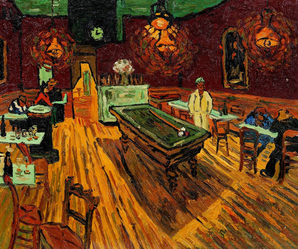 Vincent Van Gogh The Night Cafe Hand Painted Oil Painting On Canvas At Art