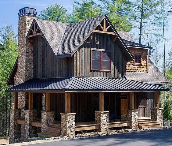 Plan 18733ck 5 Bed Mountain Cottage On A Walkout Basement Cottage House Exterior Rustic House Small Cottage Homes