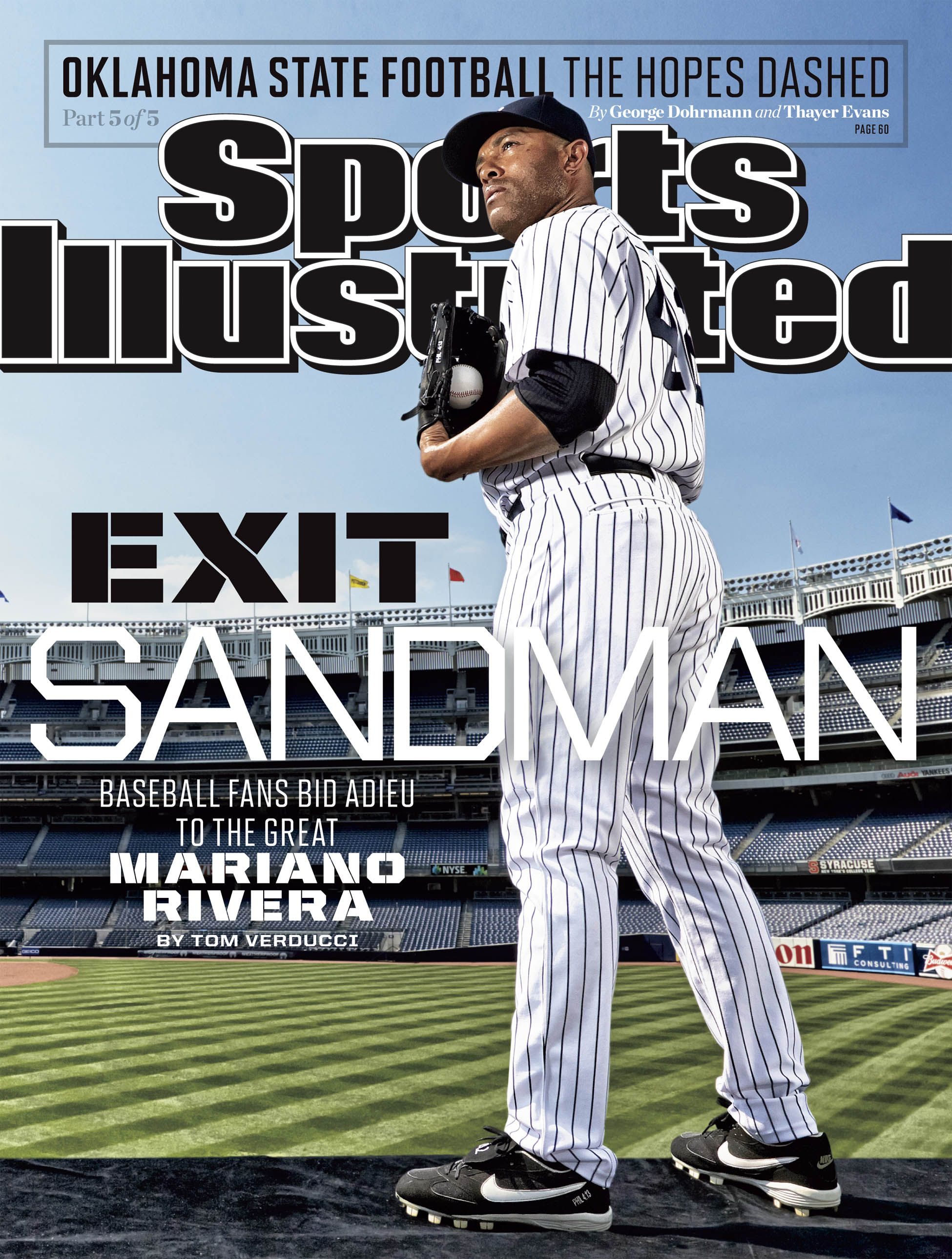 This Week's Cover: EXIT SANDMAN Baseball fans bid adieu to the great Mariano Rivera: http://on.si.com/19eCErP