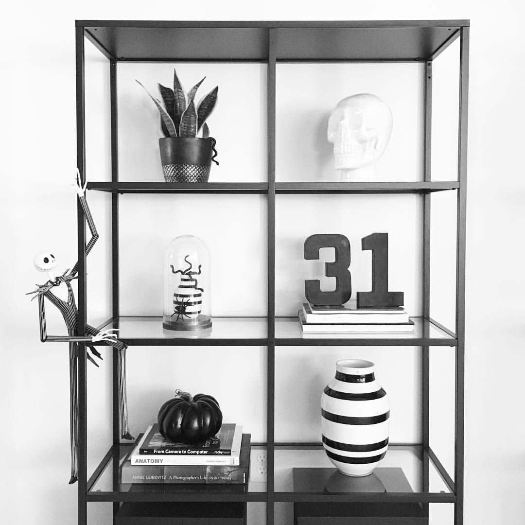 on instagram halloween decor halloween decorating shelfie shelf styling. Black Bedroom Furniture Sets. Home Design Ideas