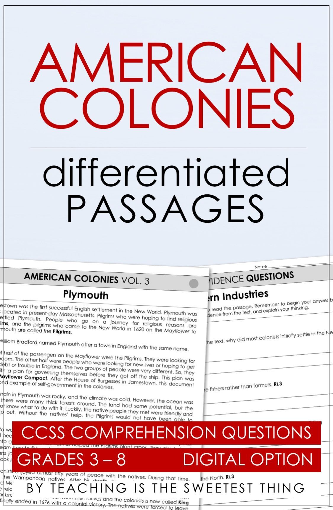 American Colonies Passages Vol 3 Distance Learning Compatible Social Studies Education Teaching Social Studies American Colonies [ 1724 x 1125 Pixel ]