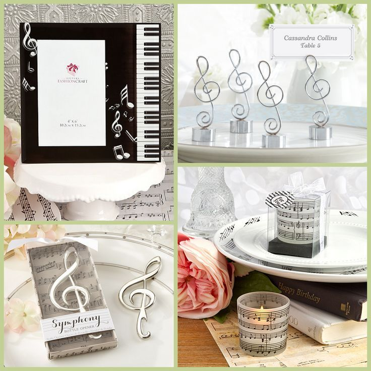 41 Unique Wedding Gift Ideas For Bride And Groom In 2020: Music Note Party Favors From HotRef.com