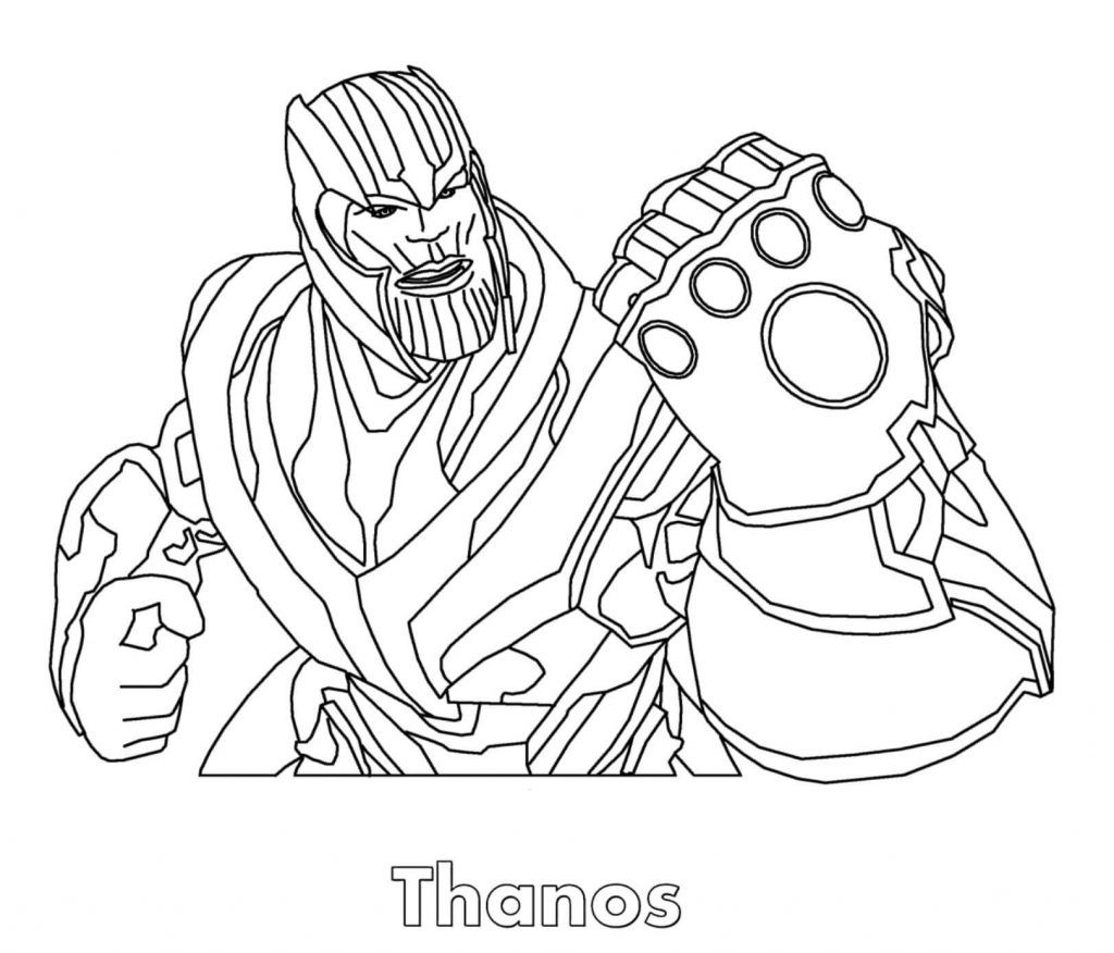 Thanos Coloring Pages Coloring Pages To Print Avengers Coloring