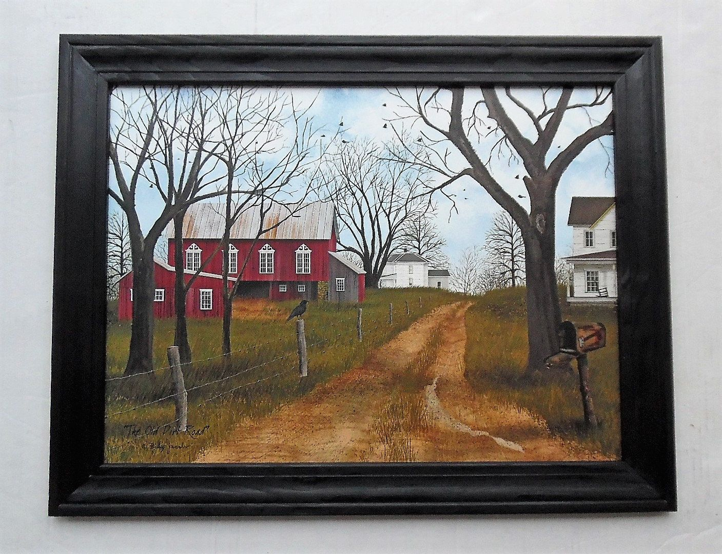 Billy Jacobs Country Print, Barn and Farmhouse, The Old Dirt Road ...
