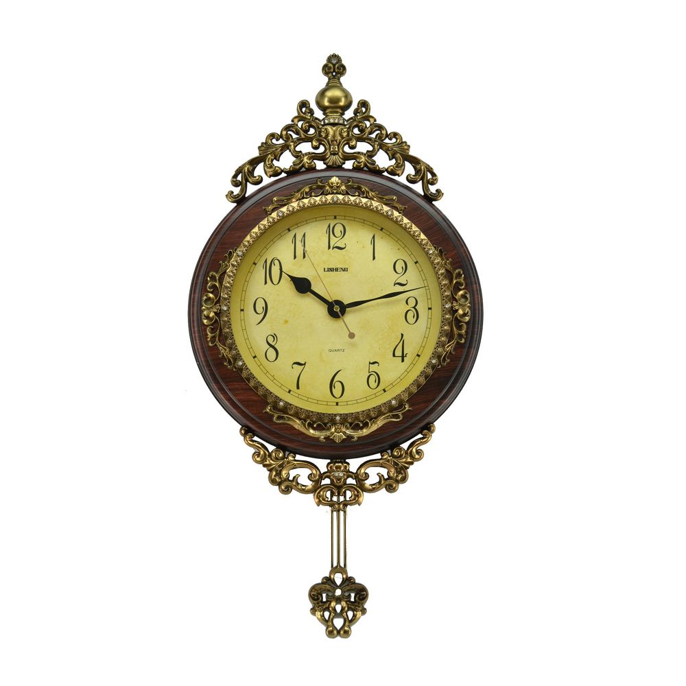 Antique Pendulum Wall Clock (24 x 15) | Overstock.com | Finishing ...