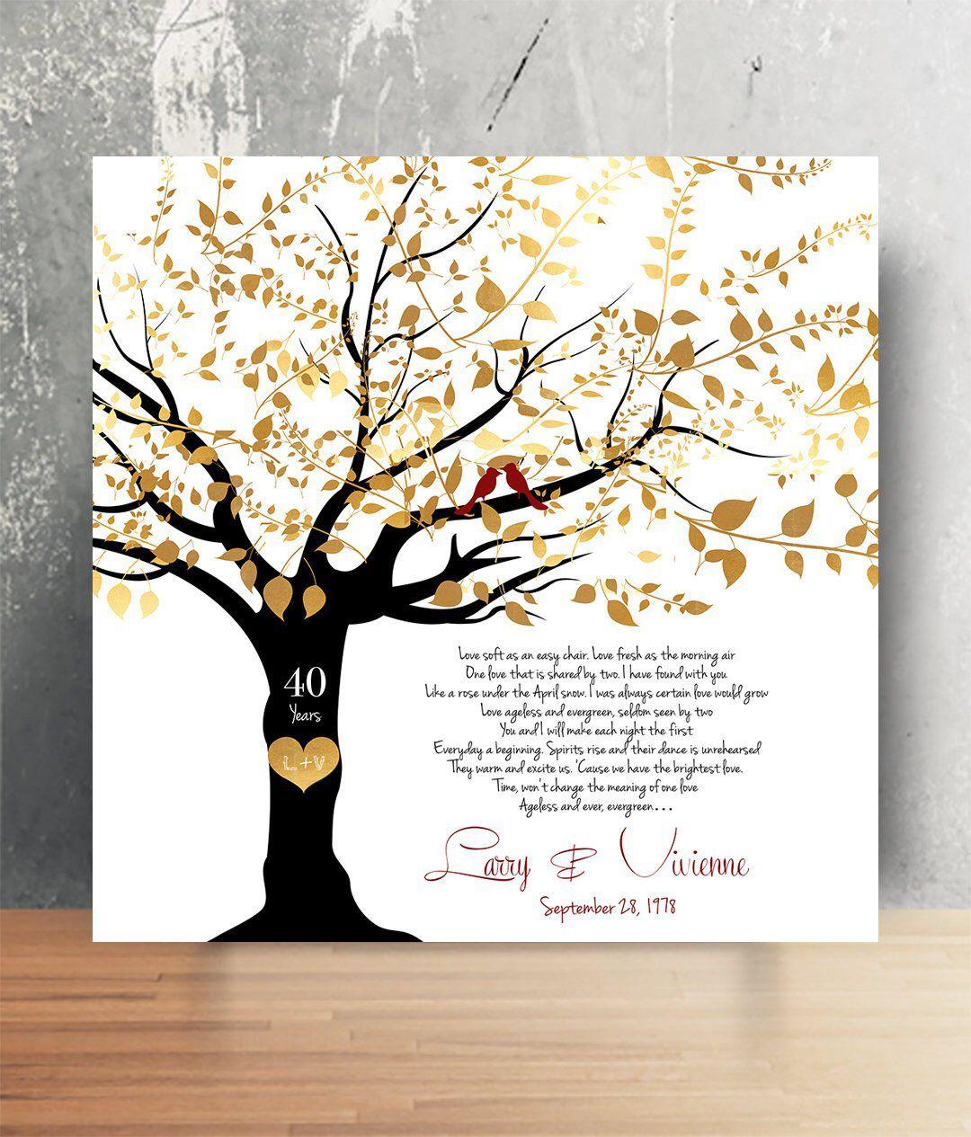 50th anniversary gift song lyric wall art 50th wedding