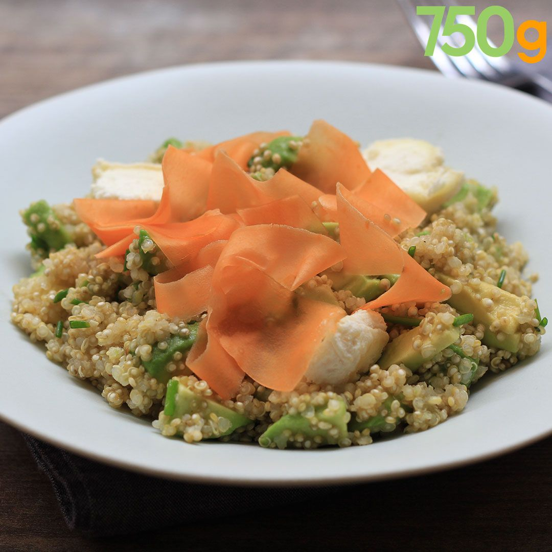 Salade de quinoa avocat  carottes  Recette en 2019  Cuisine moderne  Pinterest  Comida et Sin gluten