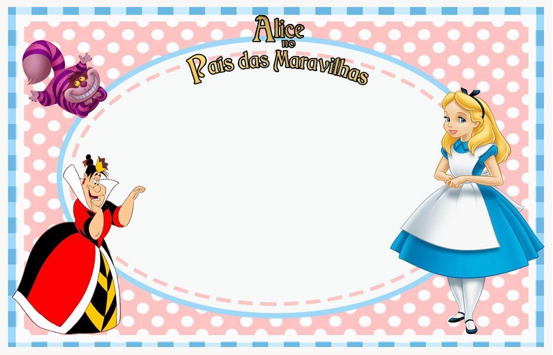 Kit De Aniversario Digital Alice No Pais Das Maravilhas Para