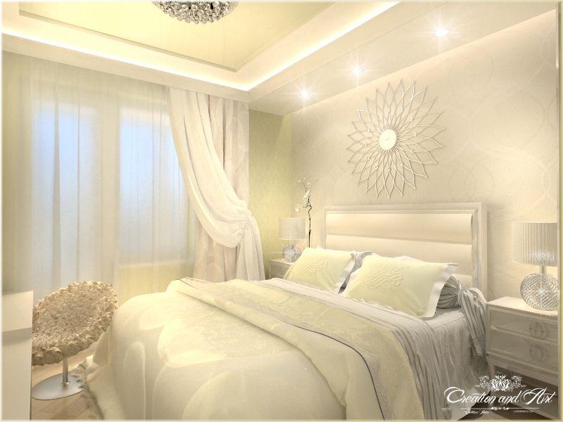 Спальня (квартира в светлых тонах)1 (Интерьеры) - фри-лансер Julia Selutina…