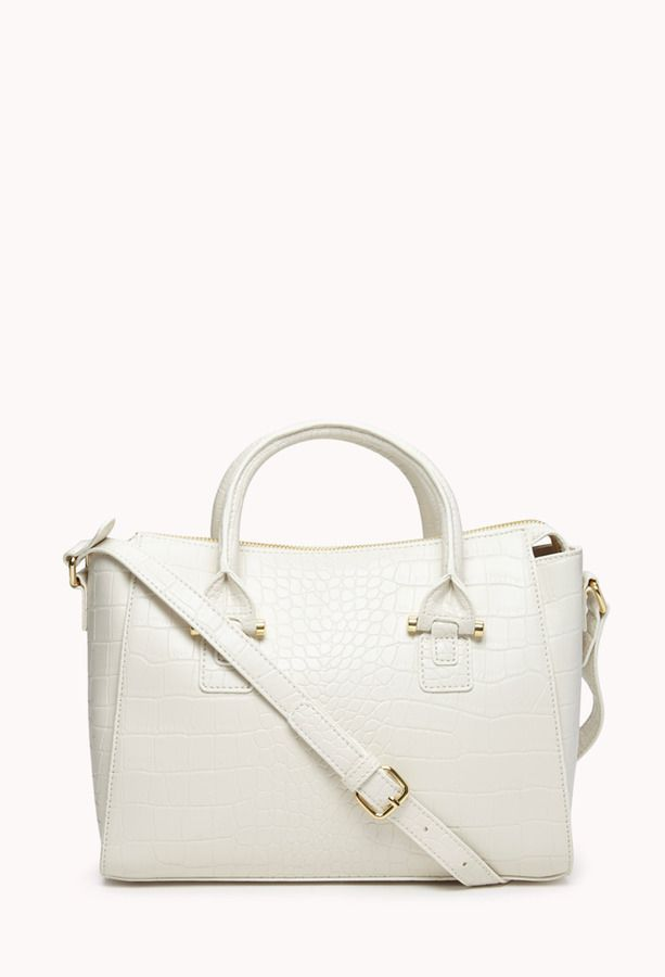 73bf9b036ed Forever 21 Glam Faux Croc Crossbody on shopstyle.com   Spring ...